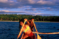 Couple kayaking off the Kona Coast