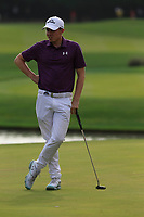 Matthew Fitzpatrick (ENG) on the 18th green during the 2nd round of the WGC HSBC Champions, Sheshan Golf Club, Shanghai, China. 01/11/2019.<br /> Picture Fran Caffrey / Golffile.ie<br /> <br /> All photo usage must carry mandatory copyright credit (© Golffile   Fran Caffrey)