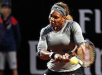 La statunitense Serena Williams agli Internazionali d'Italia di tennis a Roma, 16 maggio 2014.<br /> United States' Serena Williams at the Italian open tennis tournament, in Rome, 16 May 2014.<br /> UPDATE IMAGES PRESS/Riccardo De Luca