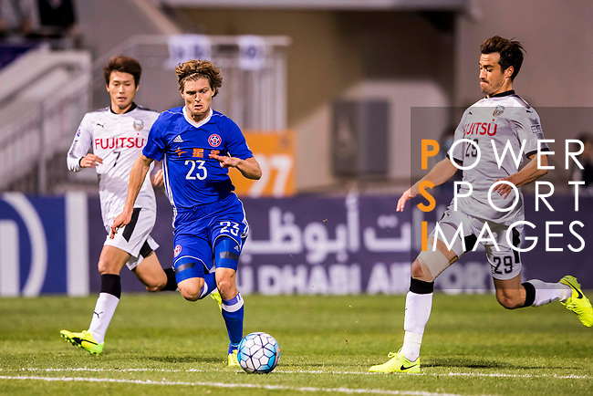Jaimes McKee (2nd left) of Eastern SC (HKG) fights for the ball with Michael Fitzgerald of Kawasaki Frontale (JPN) during the AFC Champions League 2017 Group G match between Eastern SC (HKG) and Kawasaki Frontale (JPN) at the Mongkok Stadium on 01 March 2017 in Hong Kong, China. Photo by Chris Wong / Power Sport Images