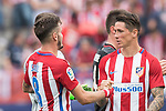 Saul Niguez Esclapez (L)  and Fernando Torres (R)  of Atletico de Madrid celebrate their win after their La Liga match between Atletico de Madrid vs Athletic de Bilbao at the Estadio Vicente Calderon on 21 May 2017 in Madrid, Spain. Photo by Diego Gonzalez Souto / Power Sport Images