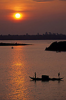 Images from the Book Journey Through Colour and Time, Sunset over the Mekong River