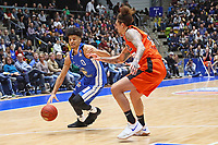 Tai Webster (Fraport Skyliners) gegen Isaac Fotu (Ratiopharm Ulm) - 18.11.2017: Fraport Skyliners vs. ratiopharm Ulm, Fraport Arena Frankfurt