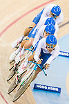 The team of Italy with Simone Consonni, Liam Bertazzo, Filippo Ganna and Francesco Lamon competes in the Men's Team Pursuit - Finals as part of the 2017 UCI Track Cycling World Championships on 13 April 2017, in Hong Kong Velodrome, Hong Kong, China. Photo by Chris Wong / Power Sport Images