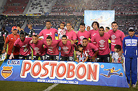 BARRANQUIILLA -COLOMBIA-27-06-2013. Jugadores de Atlético Junior posan para una foto previo al partido con Atlético Nacional por la fecha 15 de la Liga Postobón II 2014 jugado en el estadio Metropolitano Roberto Meléndez de la ciudad de Barranquilla./ Players of Atletico Junior pose to a photo prior a match against Atletico Nacional for the 15th date of the Postobon League II 2014 played at Metropolitano Roberto Melendez stadium in Barranquilla city.  Photo: VizzorImage/Alfonso Cervantes/STR