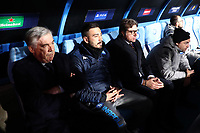 Carlo Ancelotti coach of Napoli dejection staff<br /> Napoli 10-12-2019 Stadio San Paolo <br /> Football Champions League 2019/2020 Group E<br /> SSC Napoli - KRC Genk<br /> Photo Cesare Purini / Insidefoto