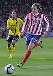 MADRID, Spain (14/02/10).-Liga BBVA de futbol. Partido Atletico de Madrid-FC Barcelona..Diego Forlan.©Raul Perez ..