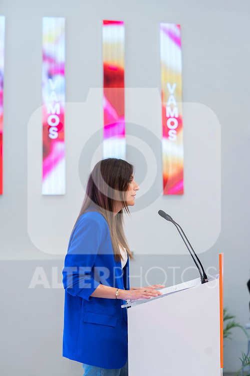 Spokeperson of Ciudadanos, Lorena Roldan, attends to the media in a press conference after General Council. September 30, 2019. (ALTERPHOTOS/Francis Gonzalez)