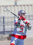 Palos Verdes, CA 03/26/16 - Aidan Westley (Palos Verdes #9) in action during the CIF Boys Lacrosse game between San Clemente Tritons and the Palos Verdes Seakings at Palos Verdes High School.  Palos Verdes defeated San Clemente 11-6