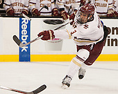 Ian McCoshen (BC - 3) - The Boston College Eagles defeated the Harvard University Crimson 3-2 in the opening round of the Beanpot on Monday, February 1, 2016, at TD Garden in Boston, Massachusetts.