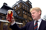 James Clarke managing director of Hook Norton Brewery and a pint in front of the brewery.<br />