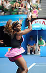Serena Williams (USA) defeats Vesna Dolonc (SRB) 6-1, 6-2 at the Australian Open in Melbourne, Australia on January15, 2014