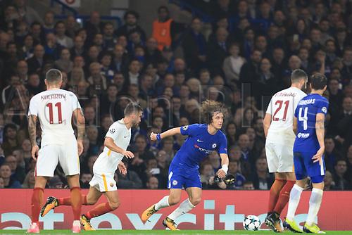 18th October 2017, Stamford Bridge, London, England; UEFA Champions League, Chelsea versus Roma; David Luiz of Chelsea