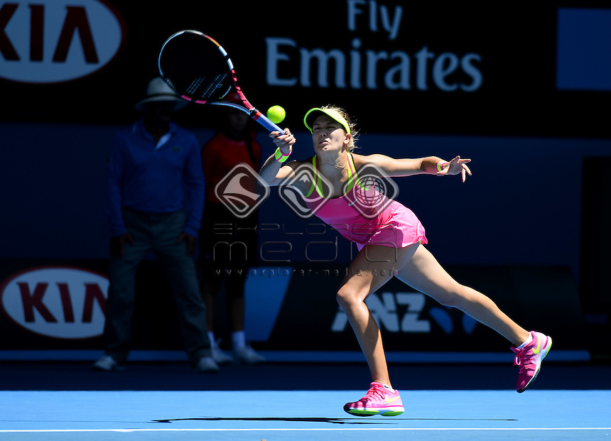 Eugenie Bouchard (CAN) during her rd3 match  <br /> 2015 Australian Open Tennis / Day 5<br /> Grand Slam of Asia Pacific<br /> Melbourne Park, Vic Australia<br /> Friday 23 January 2015<br /> &copy; Sport the library / Jeff Crow