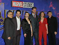 """Joe Russo, Paul Rudd, Scarlett Johansson, Chris Hemsworth, Trinh Tran and Anthony Russo at the """"Avengers: Endgame"""" UK fan event, Picturehouse Central, Corner of Shaftesbury Avenue and Great Windmill Street, London, England, UK, on Wednesday 10th April 2019.<br /> CAP/CAN<br /> ©CAN/Capital Pictures"""