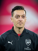 Mesut Ozil of Arsenal during the UEFA Europa League match between Arsenal and Qarabag FK at the Emirates Stadium, London, England on 13 December 2018. Photo by Andy Rowland.
