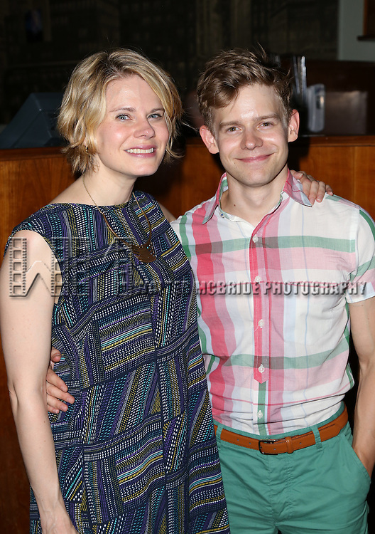 Celia Keenan-Bolger and Andrew Keenan-Bolger attends the After Party for the One Night Only 10th Anniversary Concert of 'The 25th Annual Putnam County Spelling Bee' at Town Hall on July 6, 2015 in New York City.