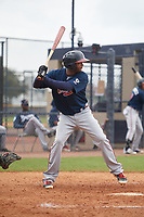 Atlanta Braves Luis Ovando (23) during a Minor League Spring Training game against the New York Yankees on March 12, 2019 at New York Yankees Minor League Complex in Tampa, Florida.  (Mike Janes/Four Seam Images)
