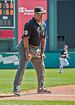 21 March 2015: MLB Umpire Laz Diaz officiates a Spring Training game between the Washington Nationals and the Atlanta Braves at Champion Stadium at the ESPN Wide World of Sports Complex in Kissimmee, Florida. The Braves defeated the Nationals 5-2 in Grapefruit League play. Mandatory Credit: Ed Wolfstein Photo *** RAW (NEF) Image File Available ***