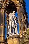 Statue monument of William Duncombe second baron Feversham 1798- 1867, Helmsley, North Yorkshire, England, UK