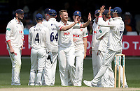 Jamie Porter of Essex celebrates taking the wicket of Luke Fletcher during Essex CCC vs Nottinghamshire CCC, Specsavers County Championship Division 1 Cricket at The Cloudfm County Ground on 16th May 2019