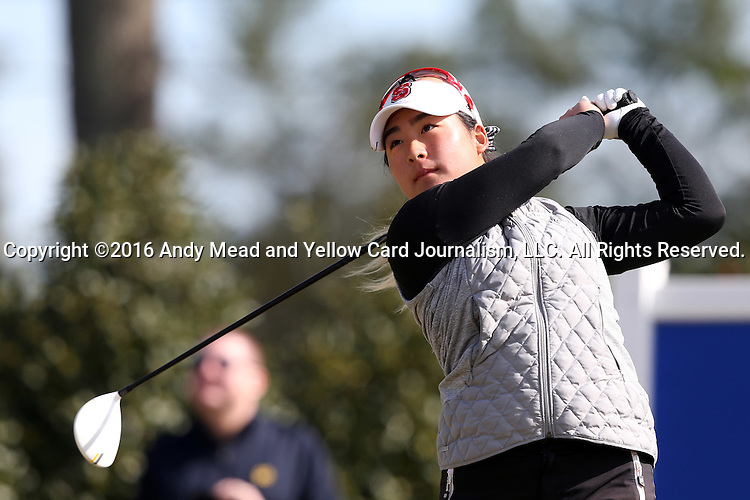 15 April 2016: NC State's Naomi Ko. The First Round of the Atlantic Coast Conference's Womens Golf Tournament was held at Sedgefield Country Club in Greensboro, North Carolina.