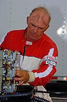 Bill Rucker (#3) at work.