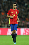 Spain's Sergio Busquets in action during the friendly match at Wembley Stadium, London. Picture date November 15th, 2016 Pic David Klein/Sportimage