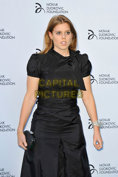 Princess Beatrice of York<br /> Novak Djokovic Foundation Gala Dinner at the Roundhouse, Chalk Farm, London, England.<br /> July 8th 2013<br /> half length dress black  clutch bag<br /> CAP/MAR<br /> &copy; Martin Harris/Capital Pictures
