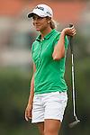 TAOYUAN, TAIWAN - OCTOBER 28:  Azahara Munoz of Spain reacts to her put on the 17th green during the day four of the Sunrise LPGA Taiwan Championship at the Sunrise Golf Course on October 28, 2012 in Taoyuan, Taiwan.  Photo by Victor Fraile / The Power of Sport Images