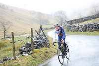 Picture by Simon Wilkinson/SWpix.com - 04/03/2018 - Cycling - Tour de Yorkshire TDY 2018 Stage 4 Reccon - Tom Pidcock Cote de Park Rash outside Kettlewell in the Yorkshire Dales