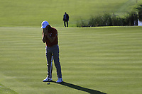 Tommy Fleetwood (Team Europe) misses his putt on the 10th green during Saturday's Foursomes Matches at the 2018 Ryder Cup 2018, Le Golf National, Ile-de-France, France. 29/09/2018.<br /> Picture Eoin Clarke / Golffile.ie<br /> <br /> All photo usage must carry mandatory copyright credit (© Golffile | Eoin Clarke)