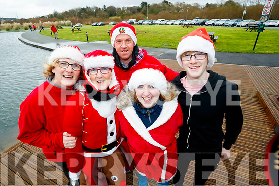 Trish Horan, Eileen Scanlon, Peter Murphy Tracey Keegan and Sean Horan, all who took part in the  Santa Run at Tralee Bay Wetlands on Sunday morning last.