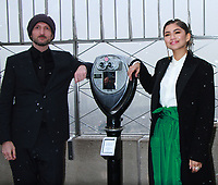 NEW YORK, NY - DECEMBER 9: Michael Gracey, Zendaya pictured as the cast of The Greatest Showman attend the Empire State Building in New York City on December 9, 2017. Credit: RW/MediaPunch /nortephoto.com NORTEPHOTOMEXICO
