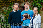David Shanahan, Castleisland has been offered and accepted a scholarship to play American Football and study next yearin Georgia pictured here with his parents Jack and Eliza.