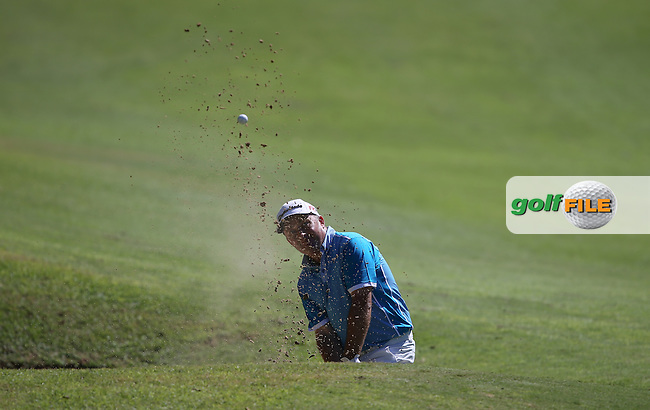 Damien McGrane (IRL) in the bunker during Round Three of the Africa Open 2015 at the East London Golf Club, East London, Eastern Cape, South Africa. Picture:  David Lloyd / www.golffile.ie. 07/03/2015