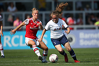 Leonie Maier of Arsenal and Angela Addison of Tottenham during Arsenal Women vs Tottenham Hotspur Women, Friendly Match Football at Meadow Park on 25th August 2019