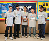 The Harker School - MS - Middle School - Harker's MS Science Bowl team preps for their next competition after winning the U.S. Department of Energy's National Science Bowl competition...2012-03-16...Photo by Kyle Cavallaro
