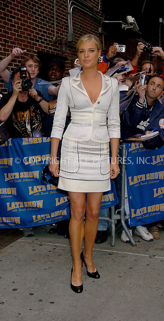 WWW.ACEPIXS.COM . . . . .  ....NEW YORK, MAY 18, 2006....Rebecca Romijn arriving for a guest appearnace at the Late Show with David Letterman.....Please byline: AJ Sokalner - ACEPIXS.COM.... *** ***..Ace Pictures, Inc:  ..(212) 243-8787 or (646) 769 0430..e-mail: picturedesk@acepixs.com..web: http://www.acepixs.com