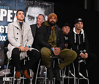BROOKLYN - JANUARY 24: (L-R) Boxers Josesito Lopez, Gerald Washington, Tugstsogt Nyambayarn attend a press conference for the January 26 PBC on FOX fight card at Barclays Arena on January 24, 2019, in Brooklyn, New York. (Photo by Frank Micelotta/Fox Sports/PictureGroup)