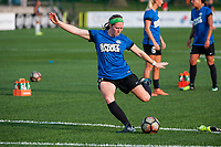 Kansas City, MO - Thursday August 10, 2017: Maegan Kelly during a regular season National Women's Soccer League (NWSL) match between FC Kansas City and the North Carolina Courage at Children's Mercy Victory Field.