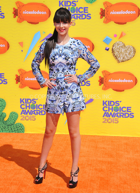 WWW.ACEPIXS.COM<br /> <br /> March 28 2015, LA<br /> <br /> Elizabeth Elias arriving at Nickelodeon's 28th Annual Kids' Choice Awards at The Forum on March 28, 2015 in Inglewood, California. <br /> <br /> <br /> By Line: Peter West/ACE Pictures<br /> <br /> <br /> ACE Pictures, Inc.<br /> tel: 646 769 0430<br /> Email: info@acepixs.com<br /> www.acepixs.com