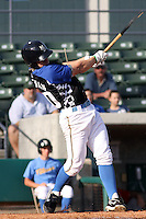 Chris Shehan #20 of the Myrtle Beach Pelicans at bat during a game against the Frederick Keys on May 2, 2010 in Myrtle Beach, SC.