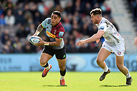 Francis Saili of Harlequins goes on the attack. Gallagher Premiership match, between Harlequins and Gloucester Rugby on March 10, 2019 at the Twickenham Stoop in London, England. Photo by: Patrick Khachfe / JMP