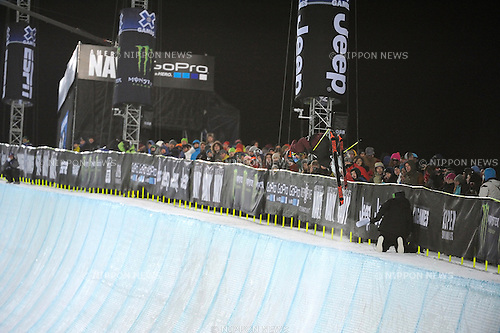 Ayana Onozuka (JPN), JANUARY 24, 2014 - Freestyle Skiing : Ayana Onozuka of Japan competes during the Winter X Games Women's Ski Superpipe in Aspen, Colorado, United States. (Photo by Hiroyuki Sato/AFLO)
