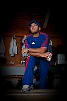 21 August 2010: Vincent Ferreira is seen in the dugout during Russia 13-1 win in 7 innings over France, at the 2010 European Championship, under 21, in Brno, Czech Republic.