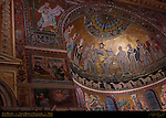 Apse Mosaics vault Coronation of the Virgin 1140-48 other mosaics Pietro Cavallini 1291 Santa Maria in Trastavere Trastevere Rome