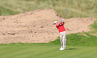 Jack Davidson (WAL) on the 14th tee during the Afternoon Singles between Ireland and Wales at the Home Internationals at Royal Portrush Golf Club on Thursday 13th August 2015.<br /> Picture:  Thos Caffrey / www.golffile.ie