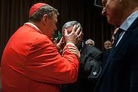 Vatican City, November 19, 2016. Un cardinale benedice un fedele durante i saluti nell'Aula Paolo VI dopo essere stato nominato Cardinale da Papa Francesco