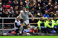 Chris Cook of Bath Rugby runs in a try. European Rugby Challenge Cup match, between Bristol Rugby and Bath Rugby on January 13, 2017 at Ashton Gate Stadium in Bristol, England. Photo by: Patrick Khachfe / Onside Images